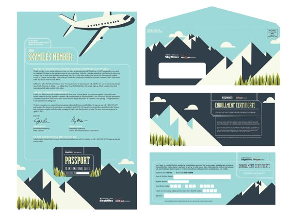 Skymiles Direct Mailer by Margaret Ruth, via Behance