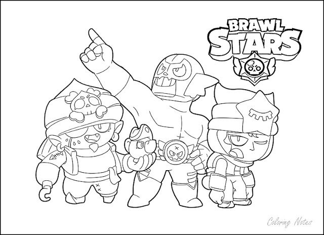 Brawl Stars Coloring Pages All Characters Star Coloring Pages Coloring Pages Color