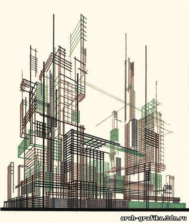 Яков Чернихов - Музыка Советской Архитектуры — Архитекторы эпохи Конструктивизма — Архитектурная Графика