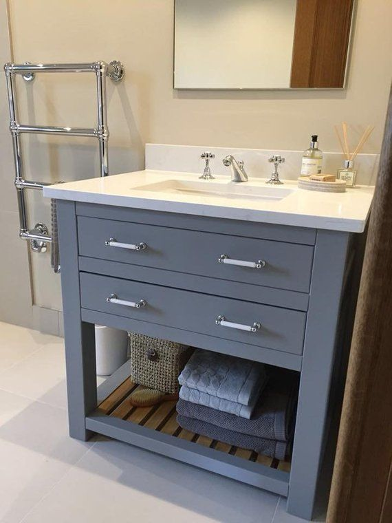 Made To Order Bathroom Vanity Unit Washstand With Quartz Top Handmade And Bespoke Base Made In Hardwood Bathroom Vanity Units Vanity Units