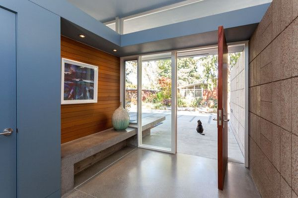 To the architects' surprise, the original radiant heated floors that were run by a single-zone system were still working throughout the year they lived in the house prior to the renovation.