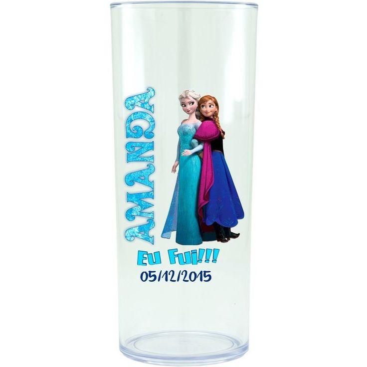 Copo Acrílico Personalizado Aniversário Frozen 01 Transparente - ArtePress | Brindes, Canecas, Copos de Acrílico Personalizado