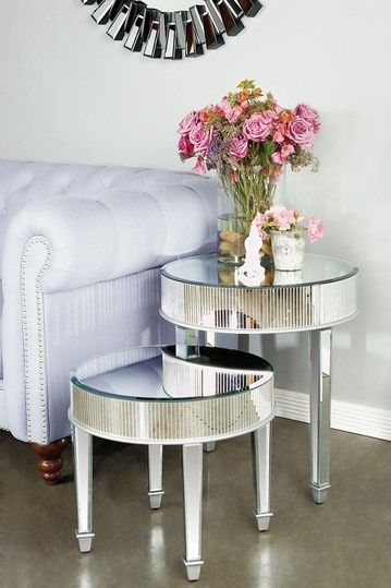 Jumeaux Mirrored Nesting Tables - Set of 2