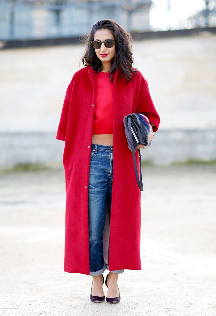 39 best style images on Pinterest | Oversized coat, Red coats and ...
