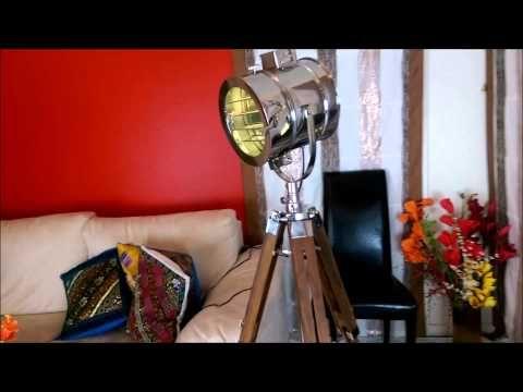 Callista Tripod Floor Lamp From IndusLamp