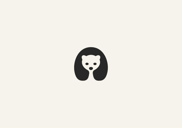 Negative space animal masterpieces by George Bokhua, via Behance