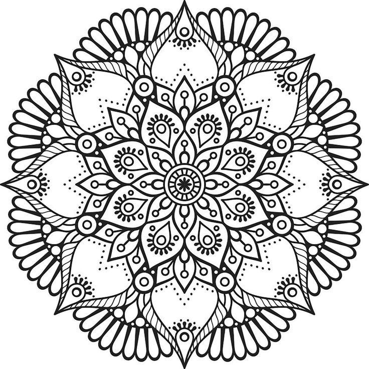 Paper Rose Mandala Cling Mount Stamp Inspiration