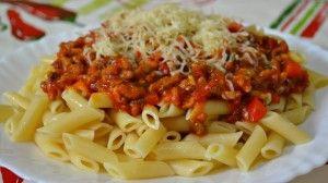 Макароны по-испански с соусом Болоньезе - Pasta con Salsa Bolonesa!