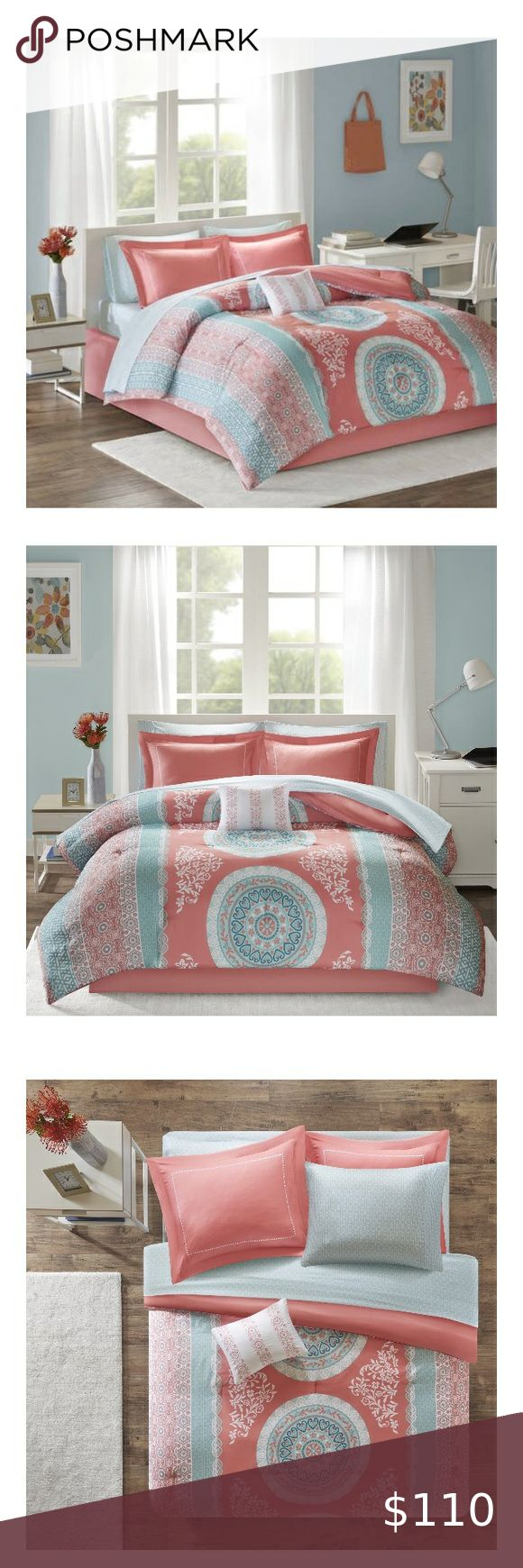 Coral Bed in a Bag Comforter Bedding Set, Queen in 2020