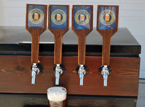 Items similar to Brazilian Cherry Tap Handle (Size Large) - Interchangeable Logo / Beer Name (Great for homebrewers, Bars, Breweries, Wineries, etc.) on Etsy