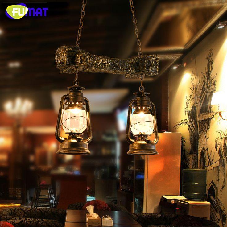 Фумат стекло керосиновой лампы винтажные классические подвесной светильник столовая дома осветительных приборов ретро промышленного Лофт подвесные светильники