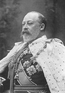 Edward VII, the first British monarch of the House of Saxe-Coburg & Gotha, renamed the House of Windsor by his son George V.