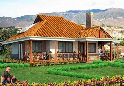 modelo de casas pequeñas y bonitas de un piso