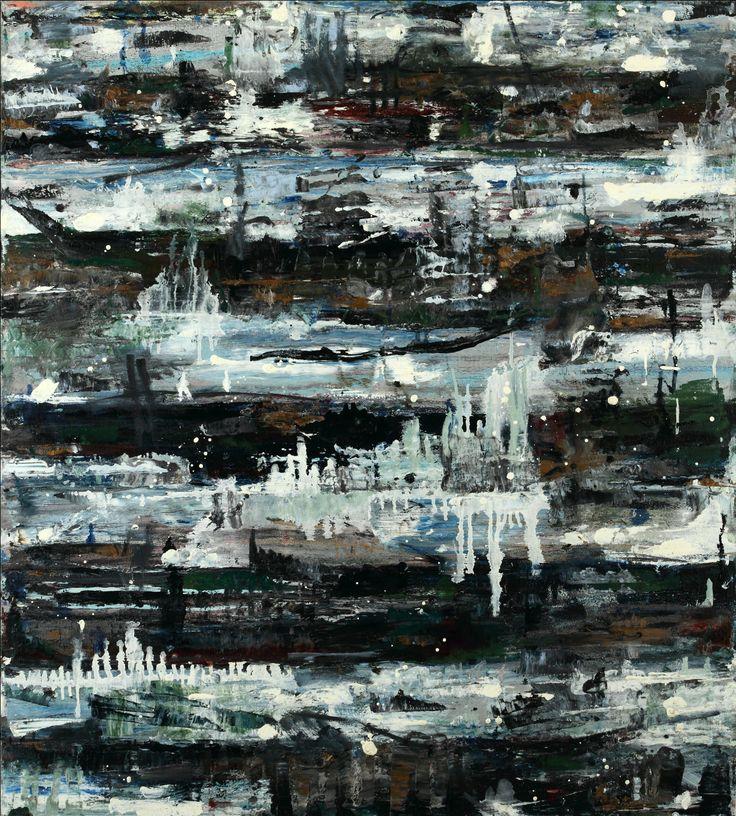 Monroe Hodder | Indigo Rise | Oil on Canvas | 40 x 36 inches | £5,950