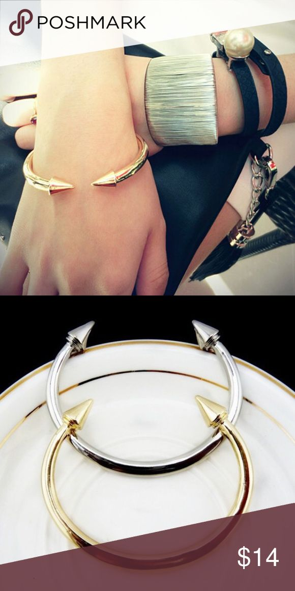 DON'T MISS IT ‼️ Trendy Cuff Bracelet Spike Arrow Cuff Bracelet. Gold/Silver plated. As seen in second picture! Jewelry Bracelets
