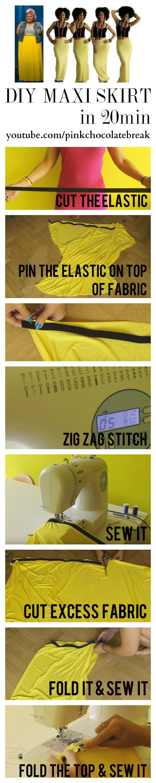 Sewing Tutorial  DIY MAXI SKIRT IN 20MIN #sewing #diy #maxiskirt #diyskirt…