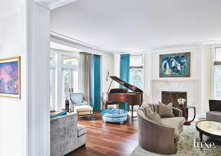 Peek Inside A Chicago Art Deco Home With Gold Touches. Living Room ...
