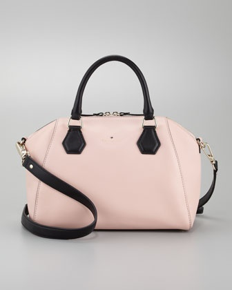 catherine street pippa satchel bag, pink champagne by kate spade new york at Neiman Marcus.