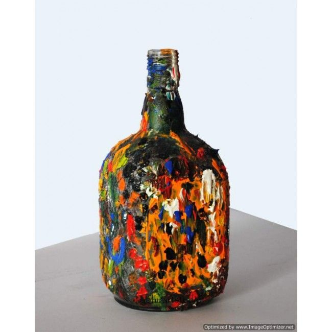 Mosaic of life, showing vibrant colors of life. view more at http://www.indishcraft.com/default/painting/modern-art/bottle/mosaic-of-life.html