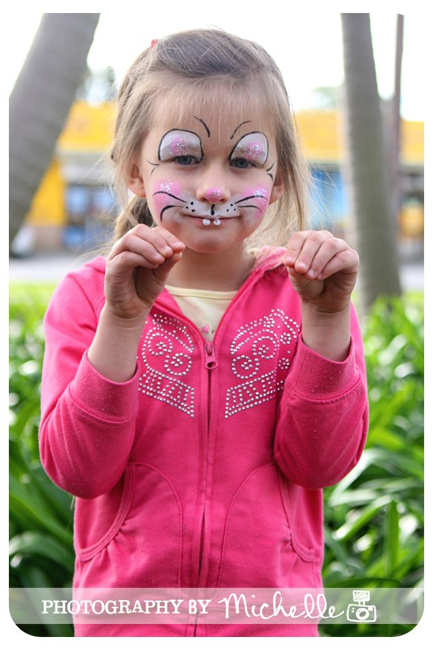 Face Paintings: Face Painting Bunny Rabbit