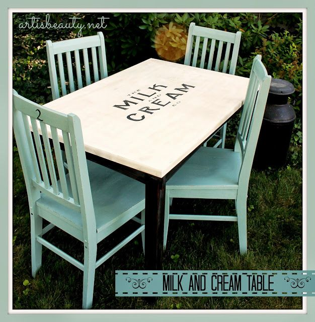 DIY Furniture Rescued Table And Chairs Turned Vintage Farmhouse Milk Cream