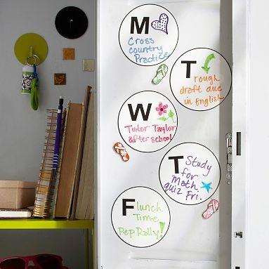 I love the Mini Daily Dot Calendar Locker Decals on pbteen.com