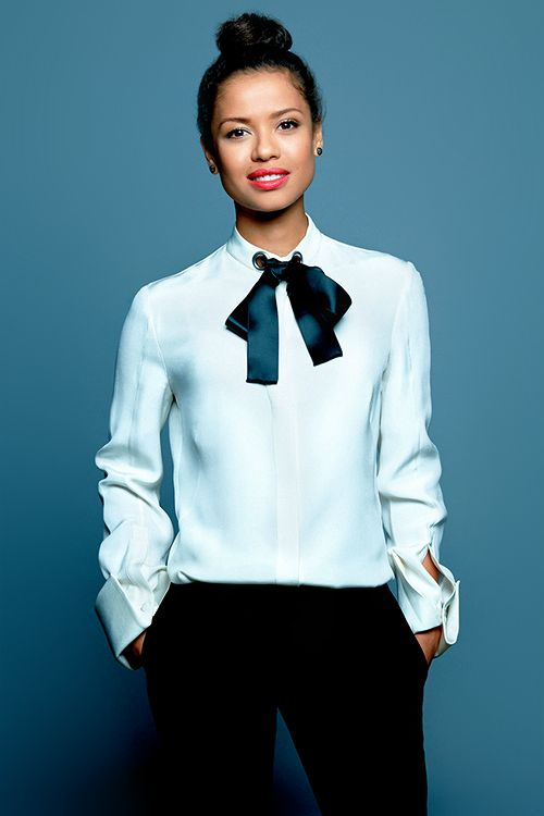 Gugu Mbatha-Raw photographed at the 2014 Toronto Film Festival #menswearinspired