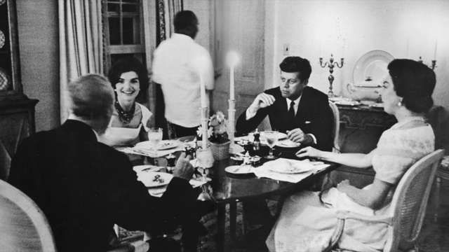 1961, a time in Washington, D.C., when Civility was  expected, observed, and experienced.   -- Republican Senator John Sherman Cooper (KY), his wife Loraine, Democrat President John F. Kennedy and First Lady Jacqueline Kennedy.