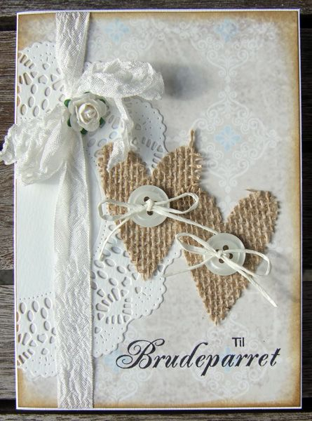 Скрап открытка льняная свадьба, открытки для