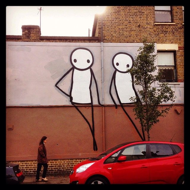 These two just hanging out.. #stik #streetart in #Dulwich #Village Get the #Kooky #London #App http://bit.ly/11XgicP #ig_London #igLondon #London_only #UK #England #Mural #art #British #iPhone #quirky #odd #photoftheday #photography #picoftheday #igerslondon #lovelondon #timeoutlondon #instalondon #londonslovinit #mylondon #graffiti #peckham #Padgram