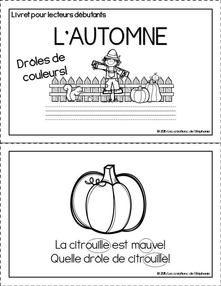 Livret pour lecteurs débutants : L'automne   Les créations de Stéphanie