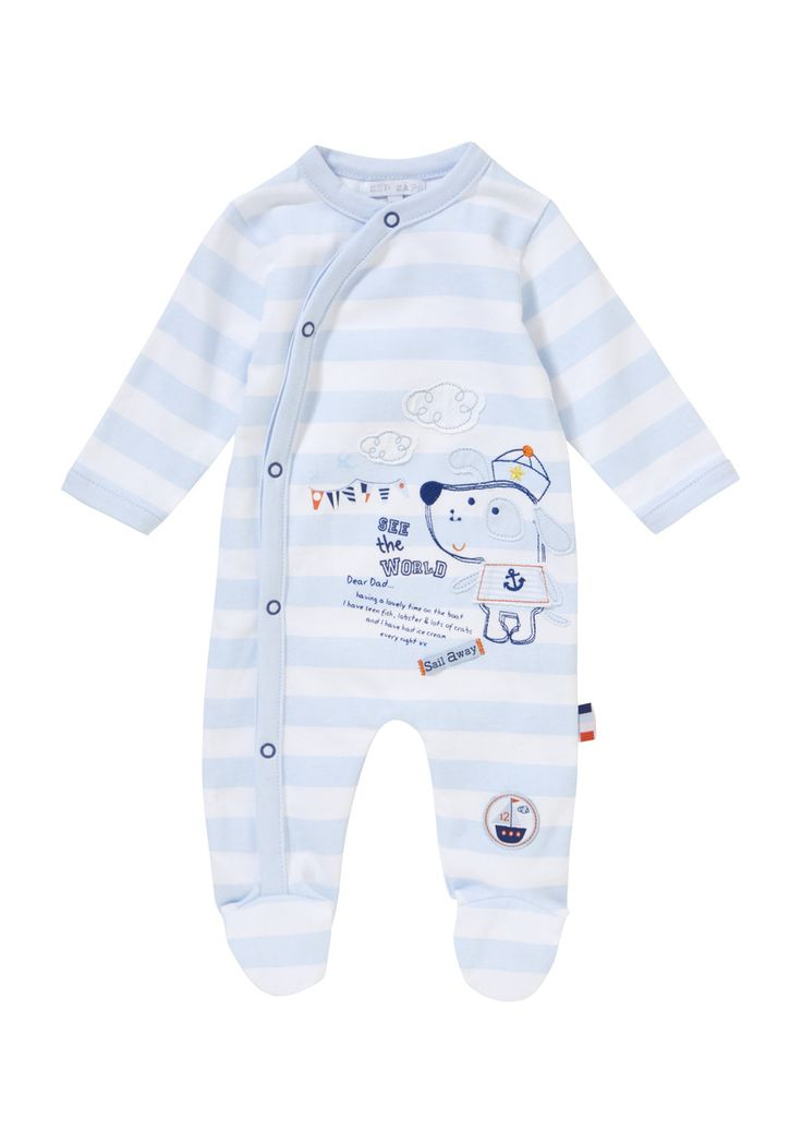 Clothing at Tesco | Zip Zap Striped Puppy Sleepsuit ...