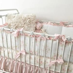 who doesnu0027t love sweet pink flowers in your crib bedding combined with the