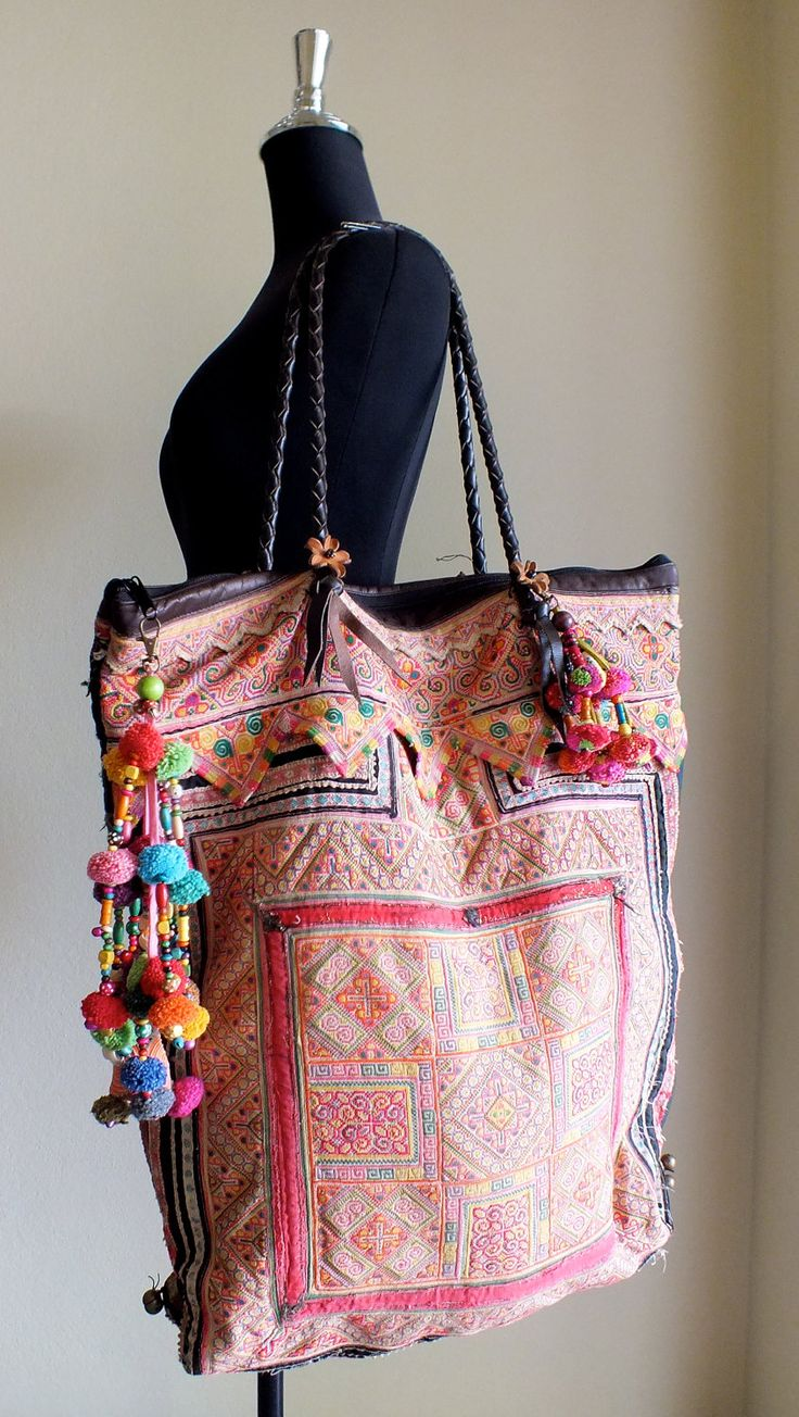 Boho Chic Ethnic Inspiration In Interior Design Projects: Ethnic Bags,Boho Tote Bags And Purses, Bohemian Handbags