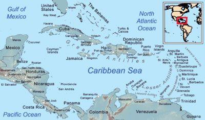 mapa caribe, Itinerarios de Cruceros por el Caribe