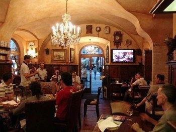 Bar/breakfast room of U Prince, Prague