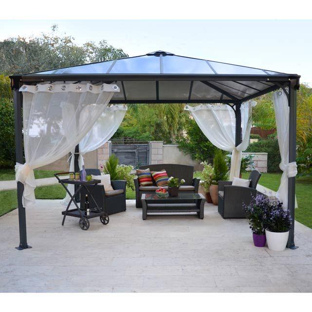Tonnelle couv 39 terrasse 3 6 x 3 6 m prix tonnelle castorama 1 meubles pas cher for Pergola aluminium castorama