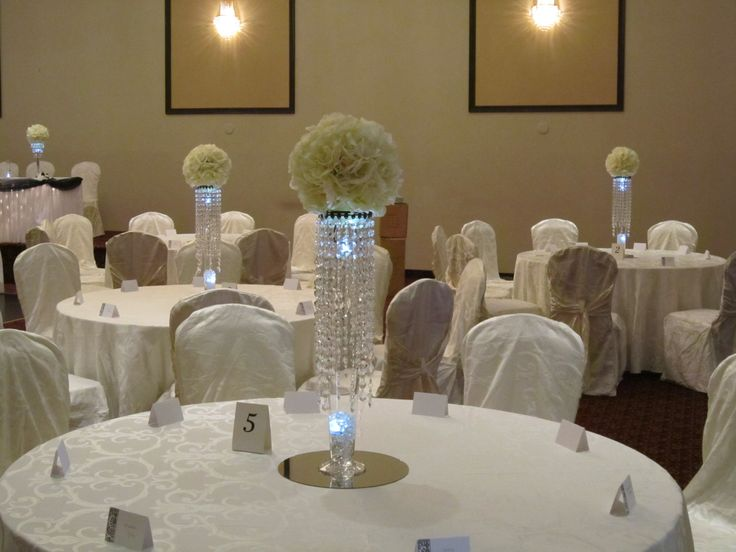centerpieces for weddings | Crystal Centerpieces at Weddings | Set The Mood Decor