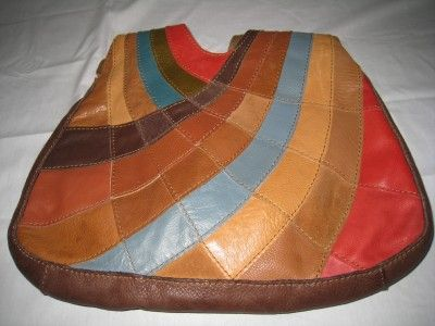 vintage+patchwork+leather | Lucky Brand -Vintage Inspired- Leather & Suede Patchwork Hobo Purse ...