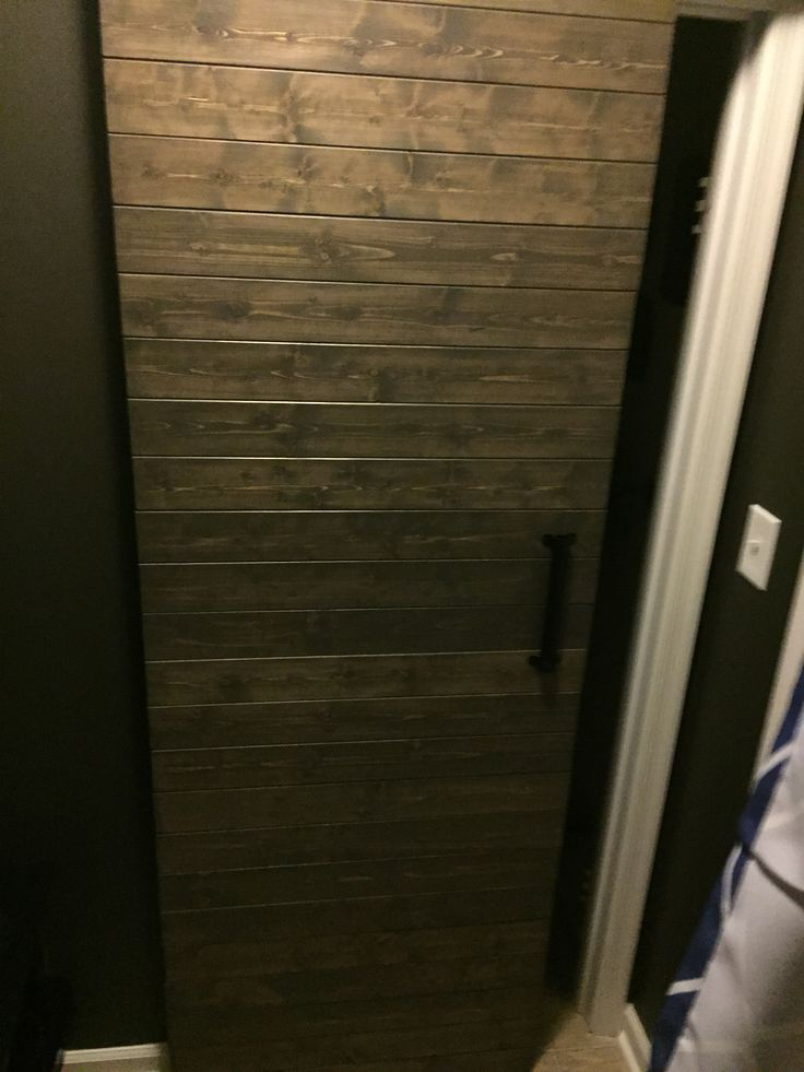 Grey Planked Barn Door Style Used Tongue And Groove Pine
