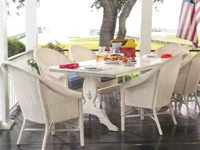 Lloyd Flanders Outdoor/Patio Dining Chair, Dining Table 1047 At Hickory  Furniture Mart