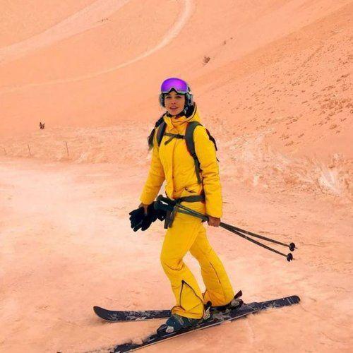 Nieve de color naranja, el curioso fenómeno que ha sorprendido a esquiadores de media Europa