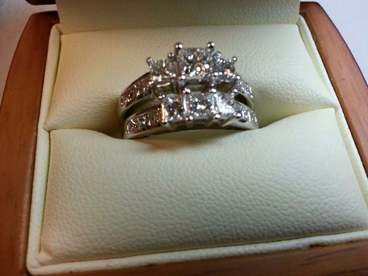 Just completed this wedding set. Customer asked for all princess cut diamonds. Http://fredbennettcreations.com
