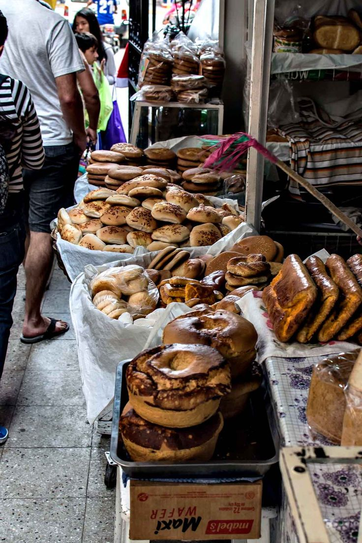 Breads and pastries at Mercado Central in Sucre, Bolivia | heneedsfood