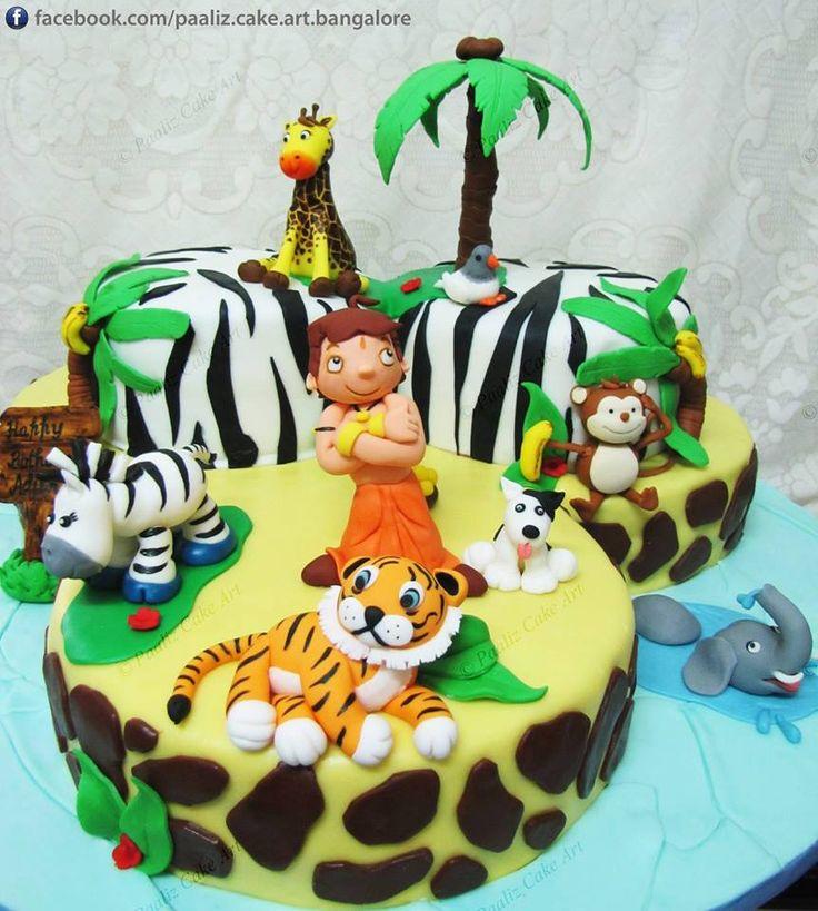 Chota Bheem cake - Contact Hyderabad Cupcakes to order!
