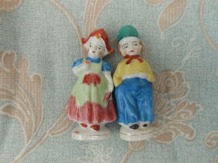 Pair Of Dutch Boy Japan Amp Girl Occupied Japan Porcelain Figurines Occupied Japan