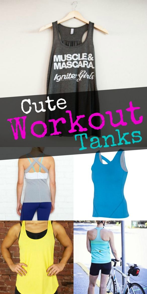 Sun's out, guns out, right? To help you work out in style this summer, we're sharing seven fab tank tops! #style #fitness