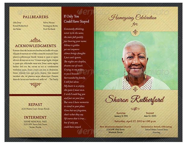 20+ Funeral Program Templates – Free Word, Excel, PDF, PSD, Format Download! | Free & Premium Templates