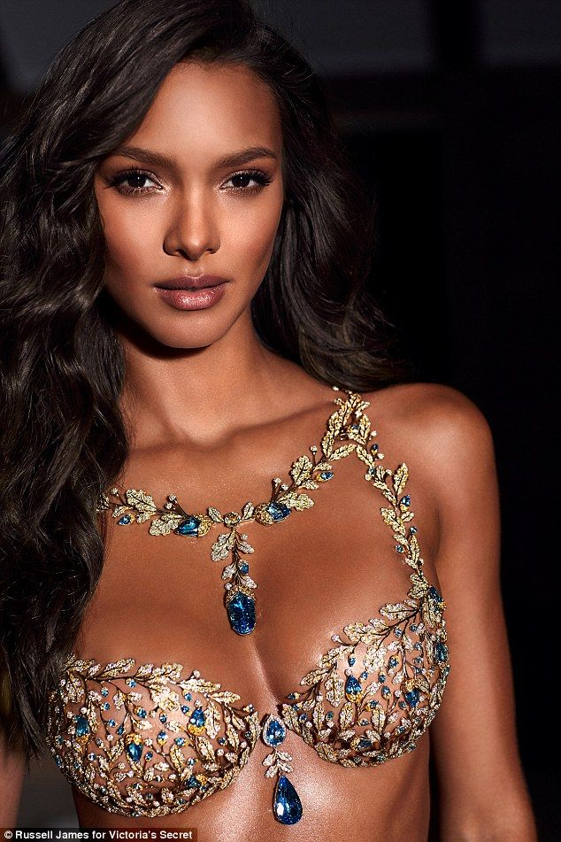 Lais Ribeiro models this year's Victoria's Secret Fantasy Bra