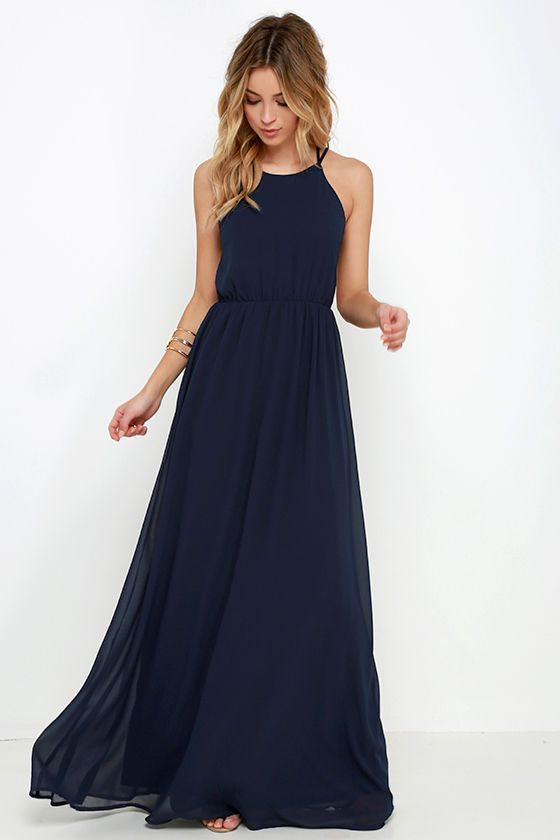 Comet's Tale Midnight Blue Maxi Dress at Lulus.com!